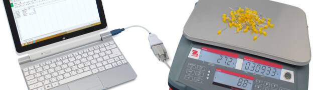 Keyboard wedge software with Ohaus counting scale