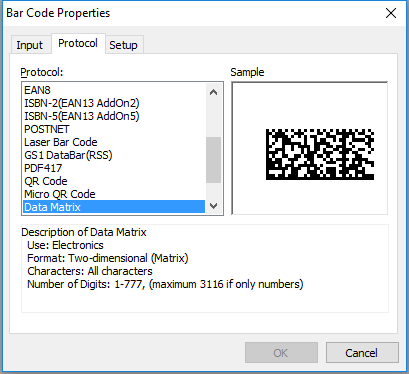 Create GS1 DataMatrix barcodes with Brother P-touch Editor