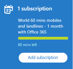 Skype subscription