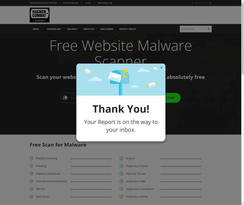 Hackercombat Website screenshot