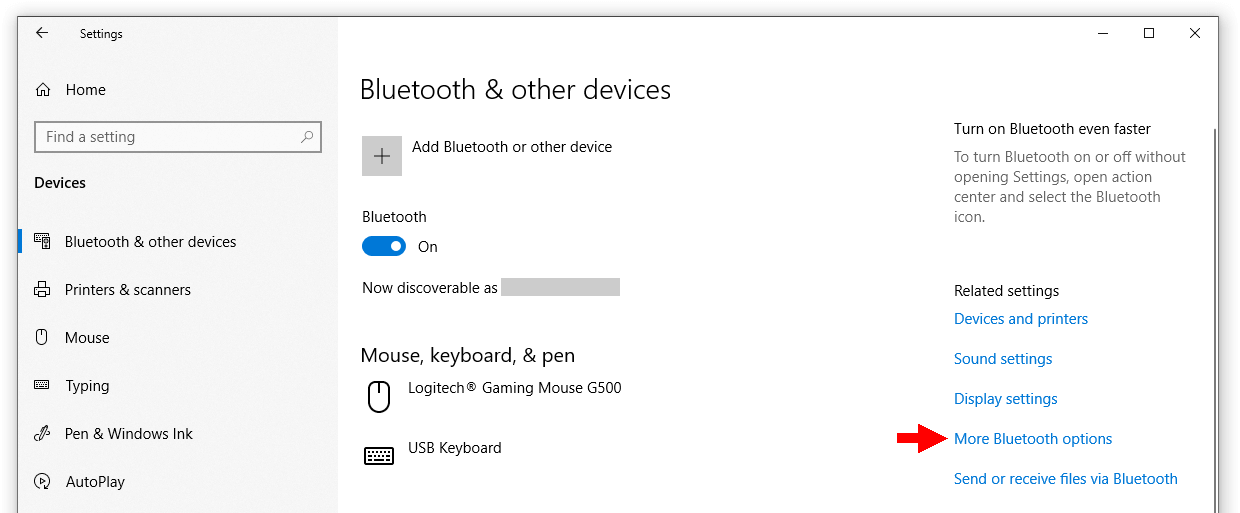 Bluetooth devices in Windows
